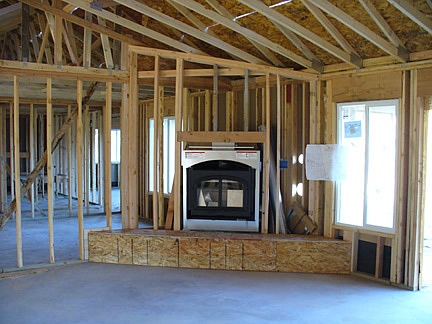 Pic gallery for New construction wood burning fireplace