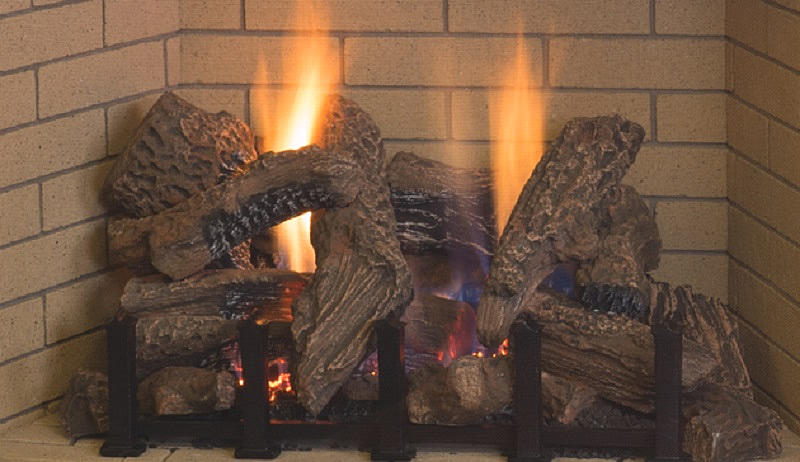 Devonshire Logs and realistic flames