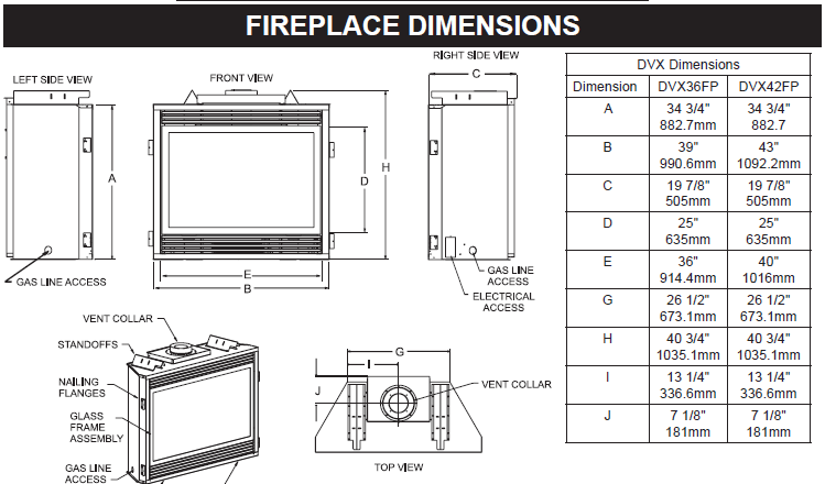 Fireplace Dimensions Reverse Search