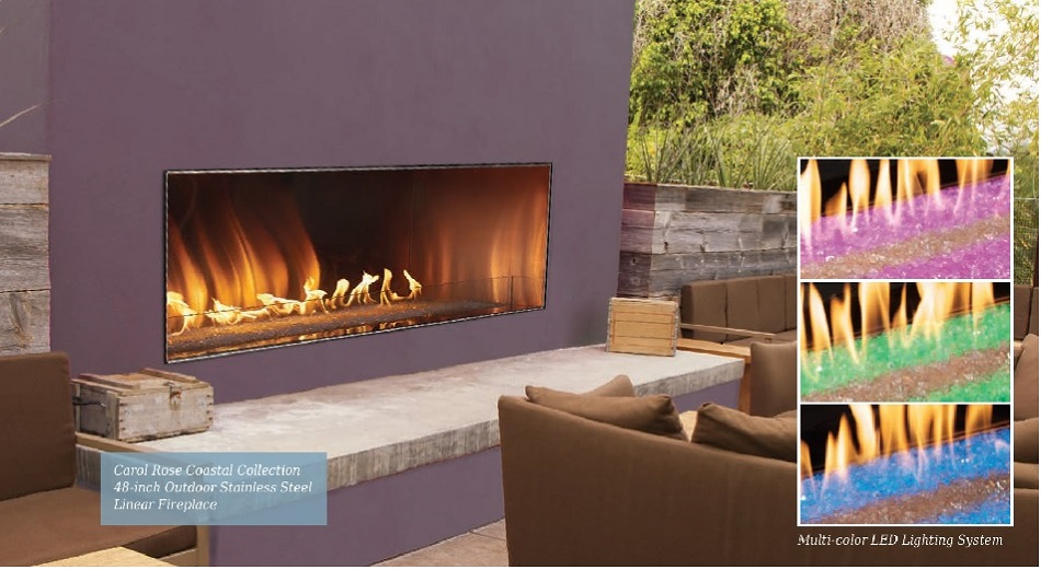 Carol Rose Linear Fireplace