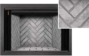 fireplace firebrick panels. Traditional Cappuccino Brick Panels  Herringbone Bricks Grey Lennox EST 50 Estate