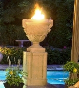 American Fyre Products Fire Urn on prdrstal